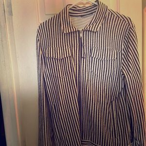 Zara stripe zip jacket